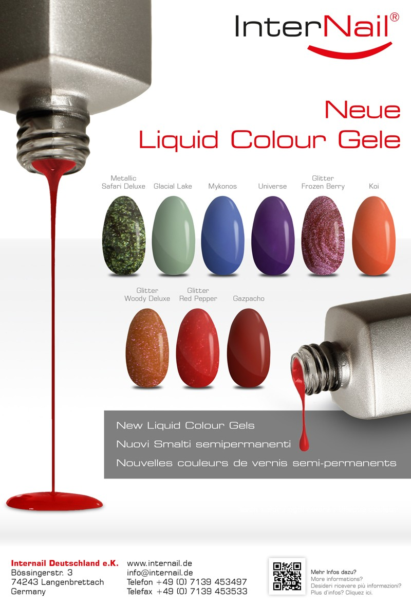 Neue Liquid Colour Gele | New Liquid Colour Gels